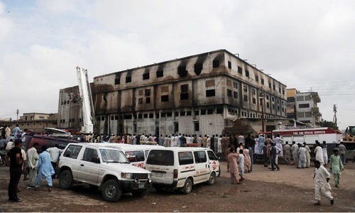 In the deadly fire in the Baldia Town factory in which over 250 workers were killed. — AFP/File