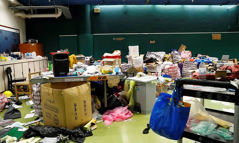 A supply room at the Hong Kong PolyU is pictured, in Hong Kong on November 22, 2019. — Reuters