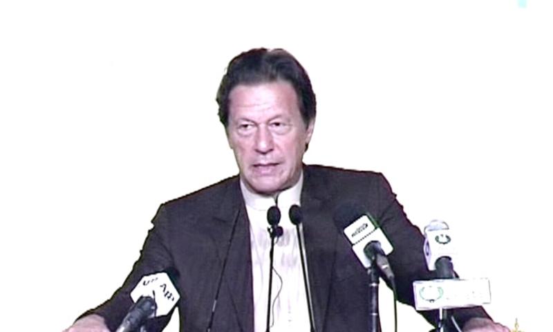 عمران خان نے دعویٰ کیا کہ معیشت کی طرف اب ہماری سمت ٹھیک ہوگئی —فوٹو: ڈان نیوز