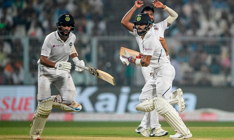 بھارت نے پہلے ہی روز 68 رنز کی برتری حاصل کرلی—فوٹو:اے ایف پی