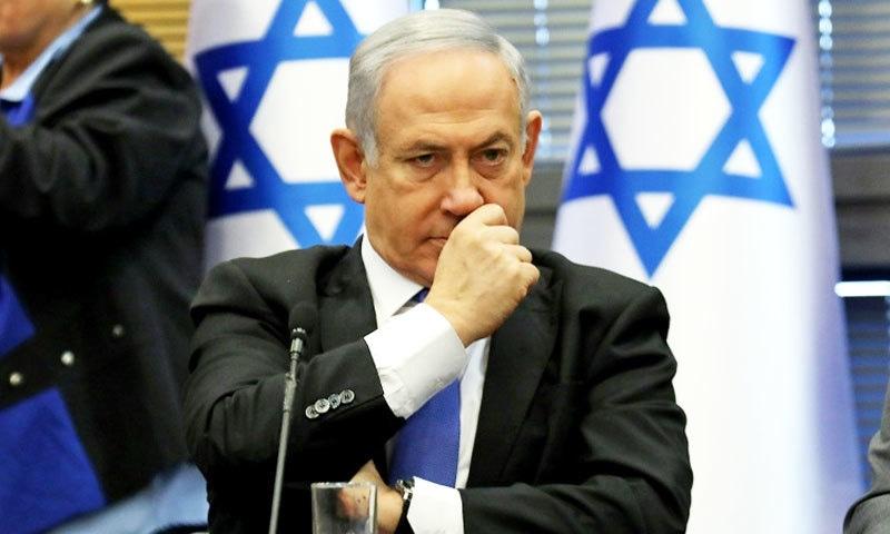 نیتن یاہو عبوری وزیر اعظم ہیں—فوٹو: اے ایف پی