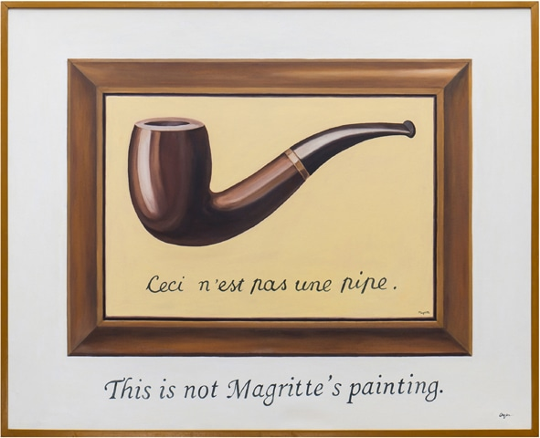 This Is Not Margritte's Painting (This Is Not A Pipe By Rene Margritte)