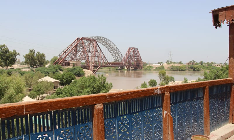A view of the Ayub and Lansdowne Bridges from the cottage