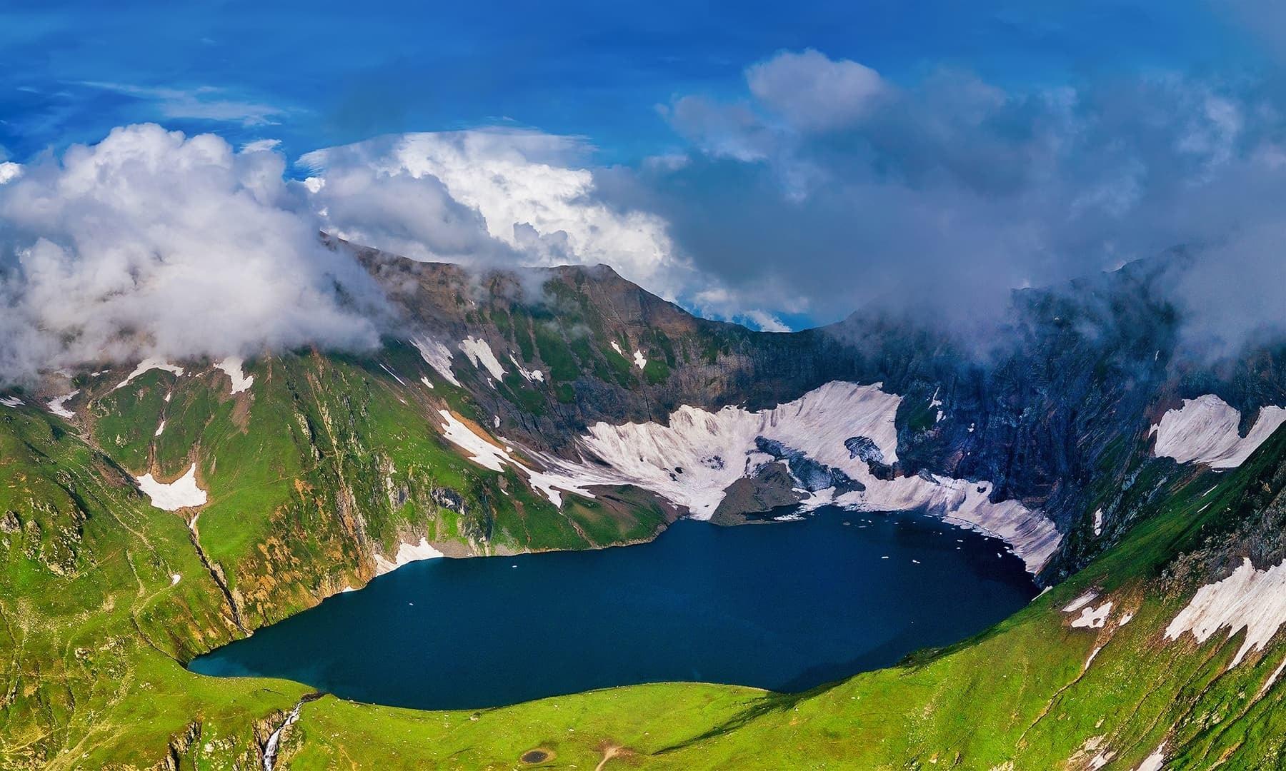 Aerial view of Rattigali Lake. — Photo by Syed Mehdi Bukhari