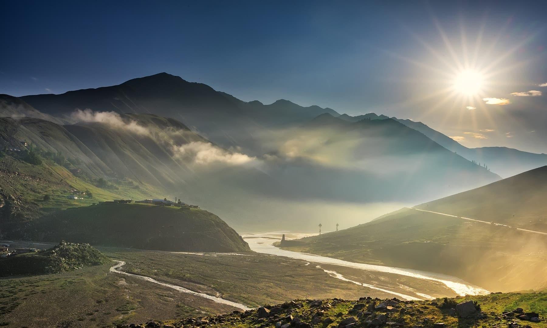 Sunset at Babusar. — Photo by Syed Mehdi Bukhari