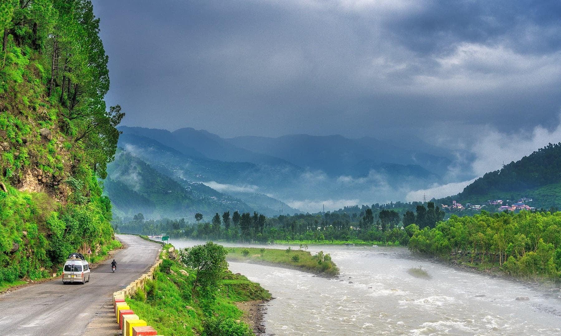Balakot and Kunhar River. — Photo by Syed Mehdi Bukhari