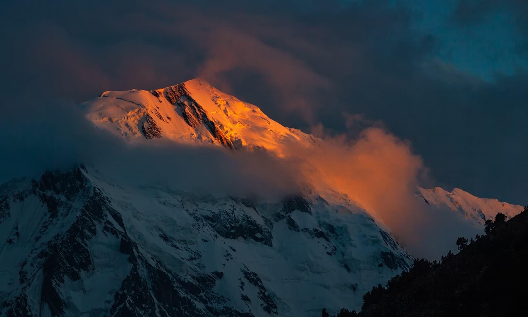 Nanga Parbat shines in the sunlight. — Photo by Syed Mehdi Bukhari