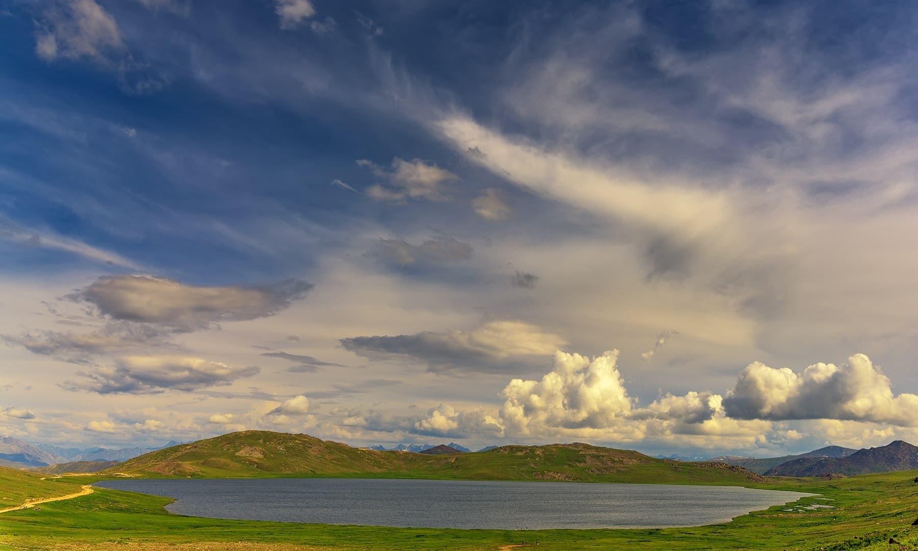 Evening at Sheosar Lake. — Photo by Syed Mehdi Bukhari