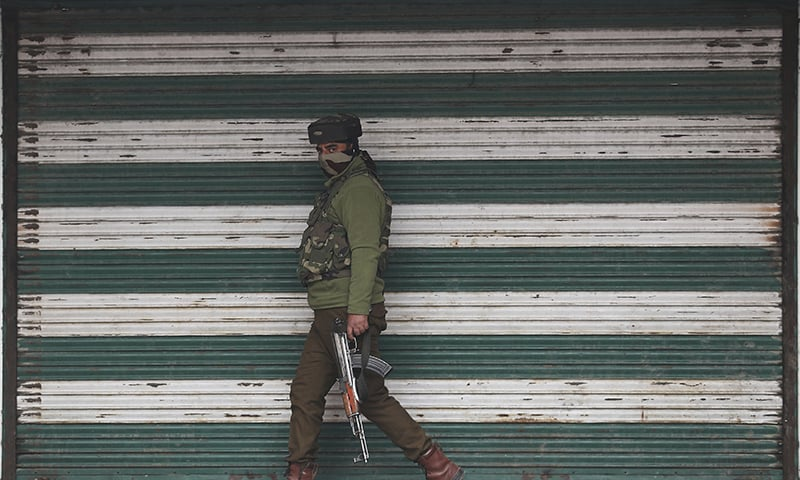 At least two people were killed in grenade attacks in occupied Kashmir on Tuesday and two fighters were shot dead by Indian forces, officials said, in one of the region's most violent days since New Delhi imposed a security clampdown there. — AP