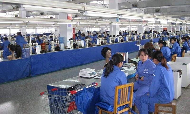 چین میں بالوں سے مختلف مصنوعات تیار کی جاتی ہیں