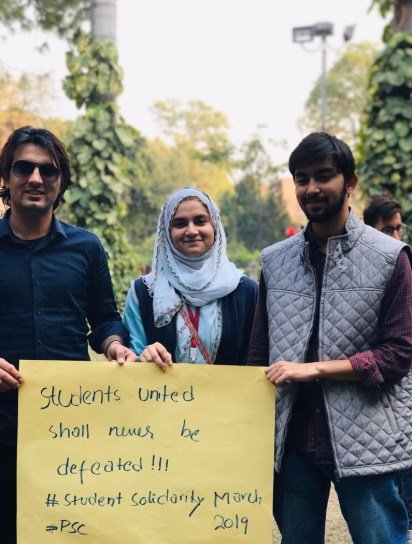 Students holding a placard in support of the Students Solidarity March scheduled for Nov 29. — Photo courtesy: Progressive Students' Collective Twitter