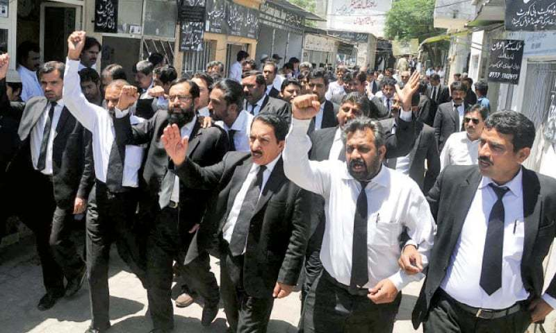 The lawyers will hold protest and condemnation meetings in their respective bar rooms tomorrow to protest the government moves. — Online/File