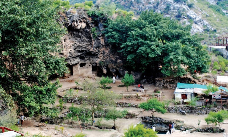 Shah Allah Ditta Caves in D-12 have a potential to attract tourists. — White Star