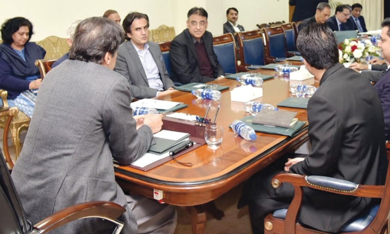 ISLAMABAD: Prime Minister Imran Khan chairs meeting of his economic team on Wednesday.