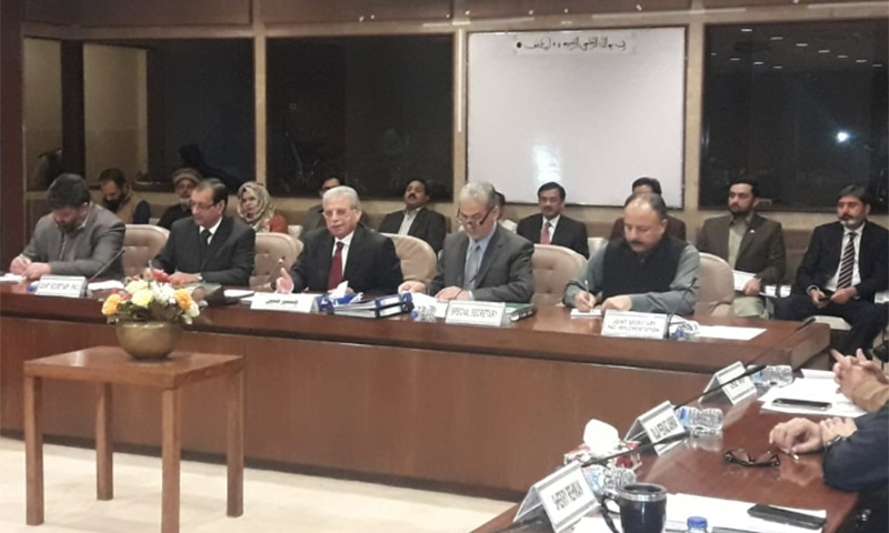 PML-N MNA Rana Tanvir Hussain (third left) was nominated for the position of Public Accounts Committee chairperson by Shehbaz Sharif. — Photo provided by author