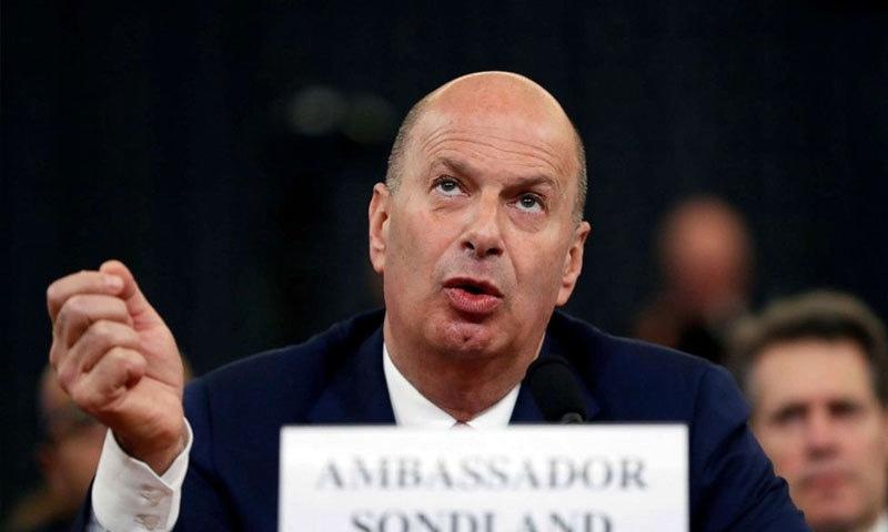 گورڈن سونڈ لینڈ یورپی یونین میں امریکی سفیر ہیں—فائل فوٹو: اے پی