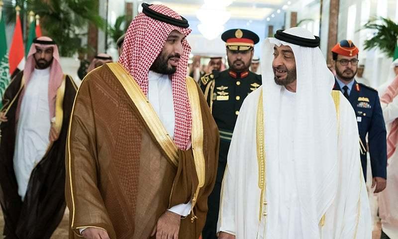 سعودی ولی عہد محمد بن سلمان نے ابوظہبی کا دورہ کیا — فوٹو: رائٹرز