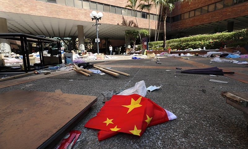 Hong Kong police end 12-day siege of university