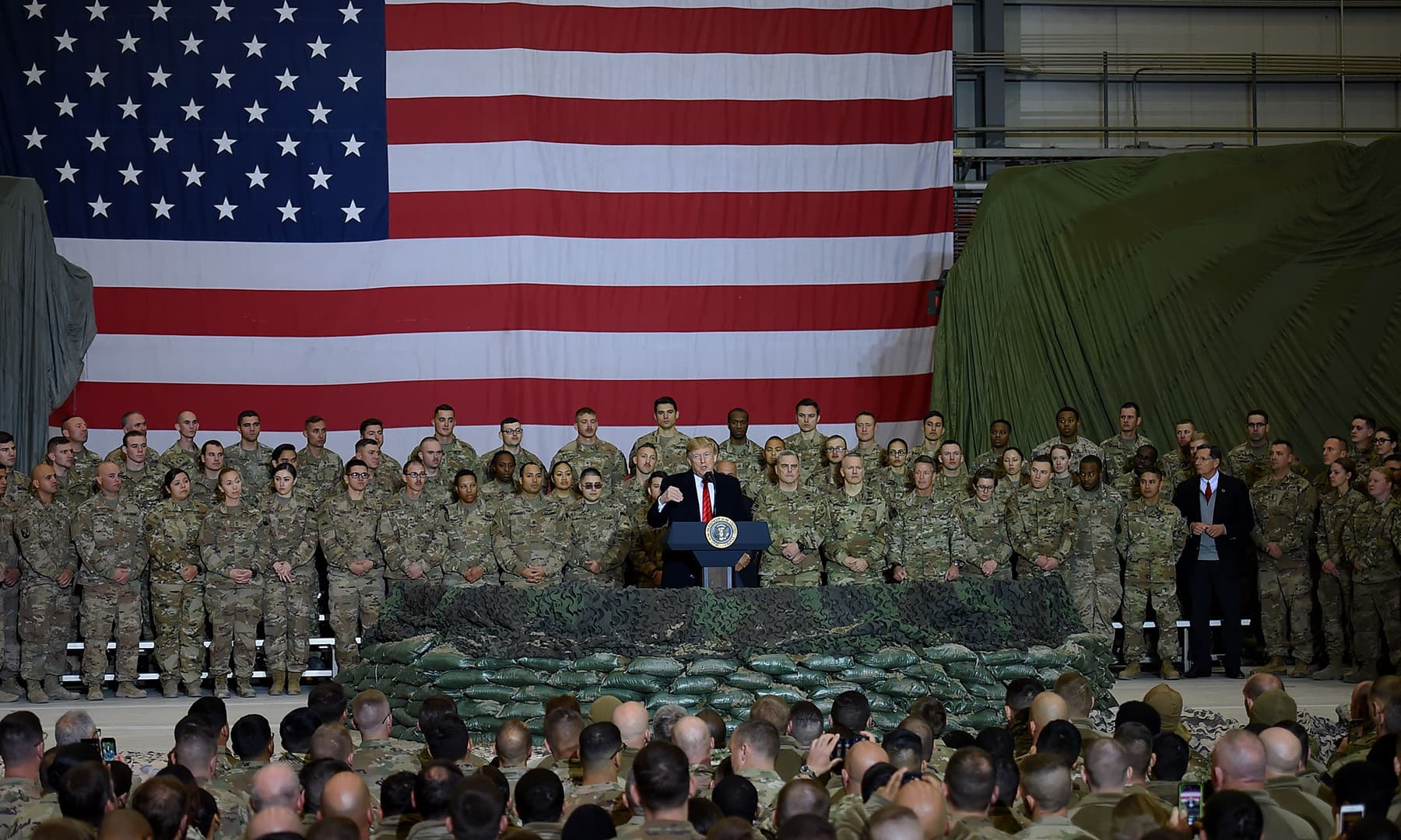 President Donald Trump said the United States had resumed talks with Taliban insurgents as he made a surprise trip to Afghanistan to celebrate the Thanksgiving holiday with troops. — AFP