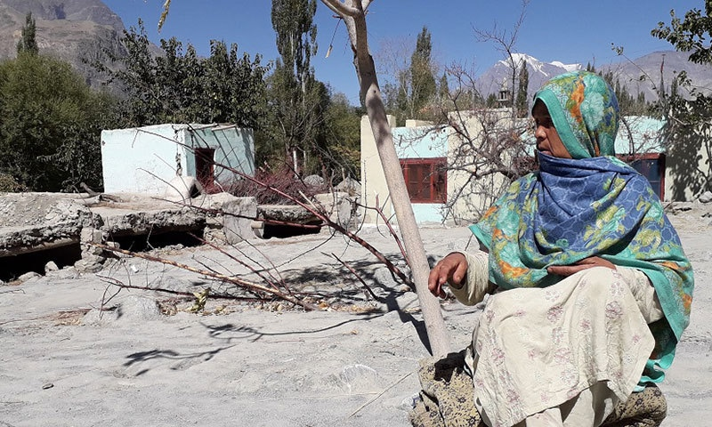 Ruqqaiya Bibi of Kotham Pine is still waiting for an opportunity to restart her life. — Photo by Shabina Faraz
