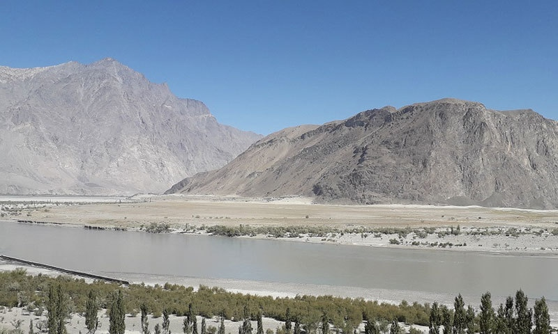 The Indus flowing near Skardu. — Photo by writer