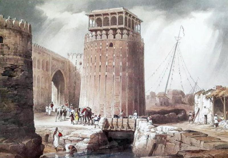 گزرے وقتوں میں بنایا جانے والا شہر حیدرآباد کا ایک خاکہ