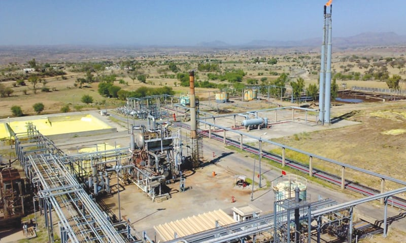 A view of an OGDCL gas field is seen in this file photo.