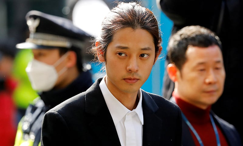 South Korean singer Jung Joon-young arrives for questioning on accusations of illicitly taping and sharing sex videos on social media, at the Seoul Metropolitan Police Agency in Seoul, South Korea, on March 14, 2019. — Reuters