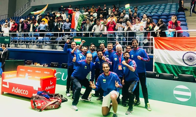 India will travel to Croatia in March 2020 for the world group qualifiers if they win the best-of-five rubber. — Photo courtesy Leander Paes' official Twitter account