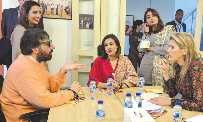 Team Ghar Par in a discussion with Queen Maxima of the Netherlands.