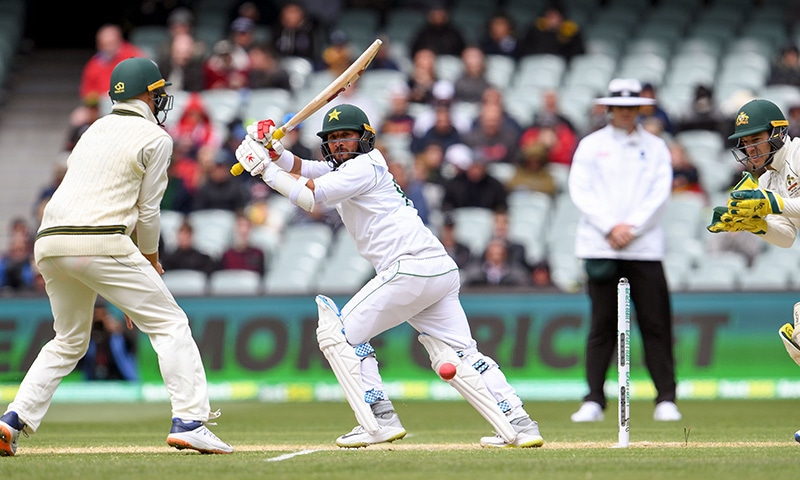 Pakistan struggles at 39-3 in rain-washed 2nd innings vs Australia