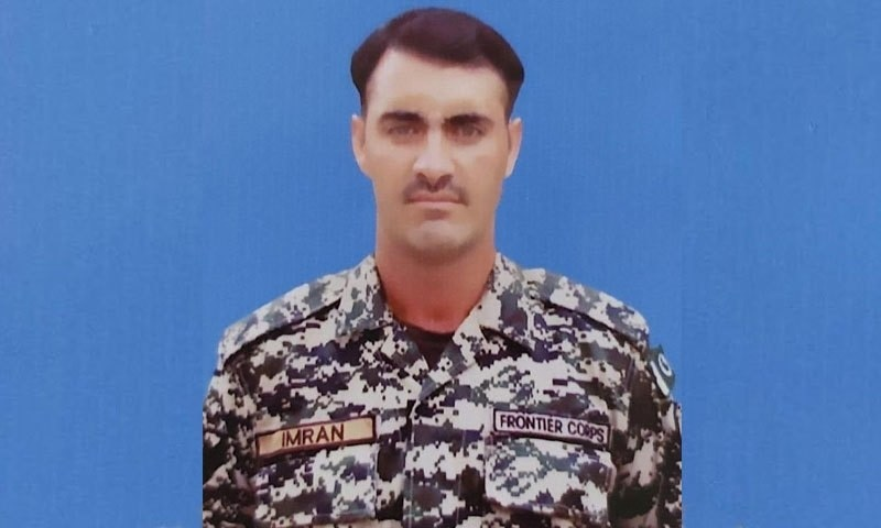 The martyred soldier was identified as Lance Naik Muhammad Imran. — ISPR