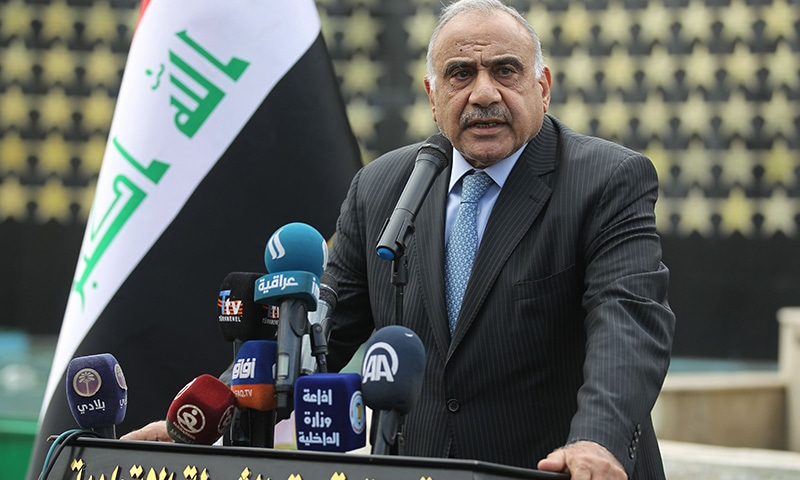 The government of Iraq's Prime Minister Adel Abdel Mahdi ended on Sunday after two months of violent unrest that has left more than 420 people dead and thousands mourning them in nationwide marches. — AFP