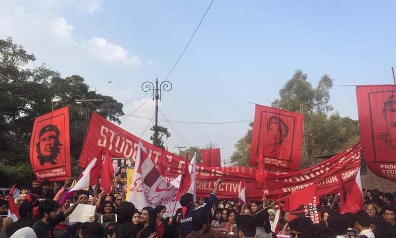 طلبہ یکجہتی مارچ کے منتظمین اور شرکا کے خلاف بغاوت کے مقدمات درج