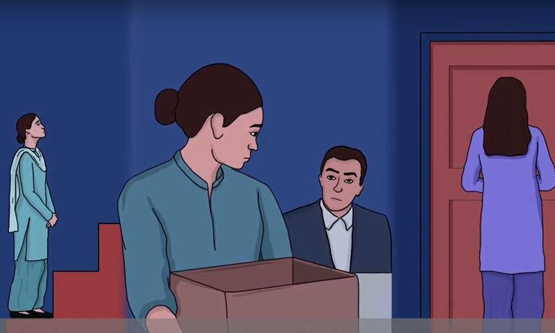 ویڈیو میں بتایا گیا ہے کہ جنسی مطالبات کے عوض ملازمت سے نکالنا یہ نوکری نہ دینا بھی جنسی ہراساں کے زمرے میں آتا ہے—اسکرین شاٹ