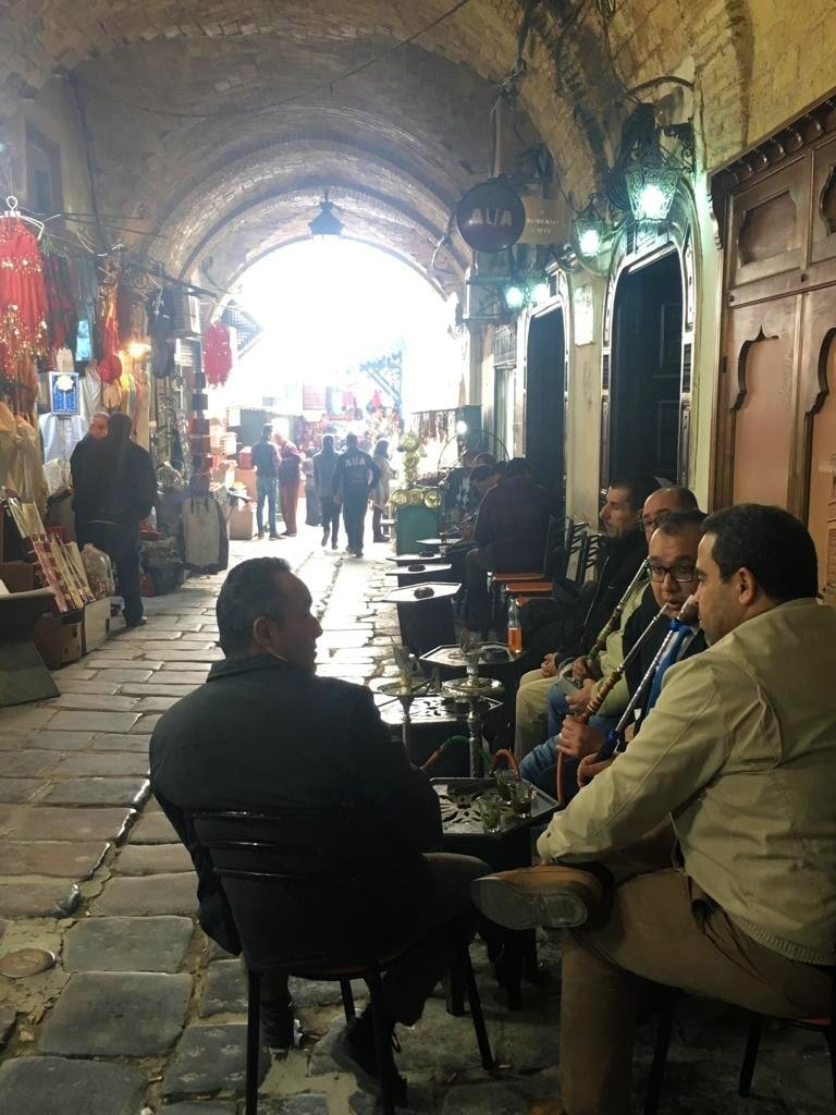 Shisha is a common sight in the Medina, whether daytime or night.