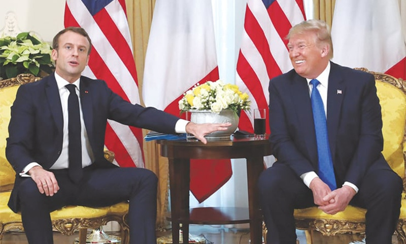 Trump, Macron and Erdogan in three-way clash at Nato summit