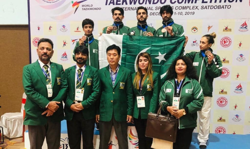 The women's karate team also won a gold medal. – Photo Courtesy Pakistan Sports Board Twitter