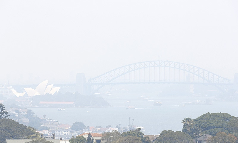 In this Tuesday, Dec. 3 file photo, smoke haze from wildfires fills the skyline in Sydney, Australia. — AP