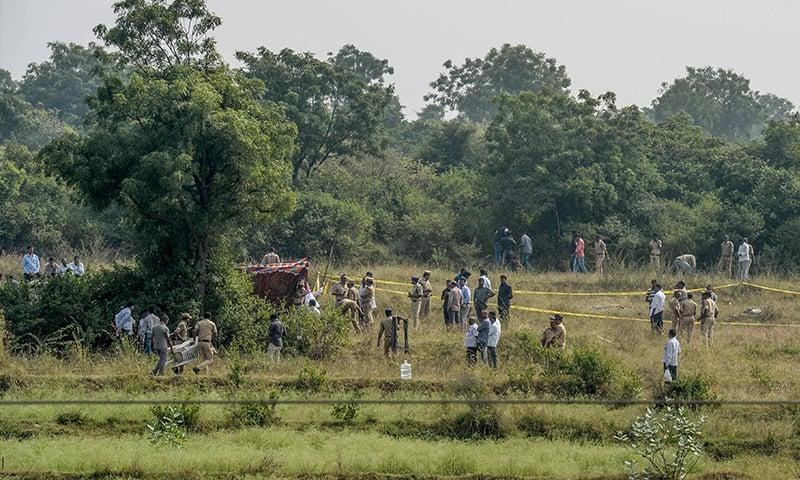 فائرنگ کے تبادلے میں چاروں ملزمان مارے گئے اور 2 پولیس اہلکار زخمی بھی ہوئے—تصویر: اے ایف پی
