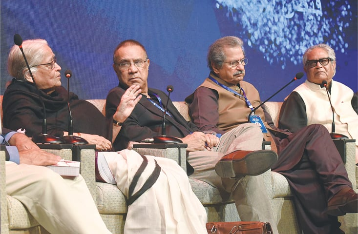 THE discussion on Faiz under way at the Urdu Conference on Friday.—White Star
