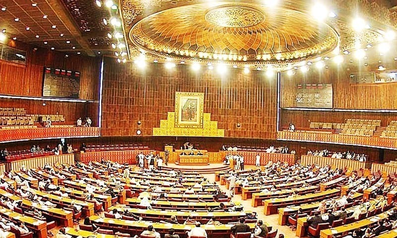 The main opposition Pakistan Muslim League-Nawaz on Friday staged a walkout from the National Assembly in protest against non-issuance of production orders for two detained leaders of PML-N Rana Sanaullah and Khawaja Saad Rafique. — APP/File