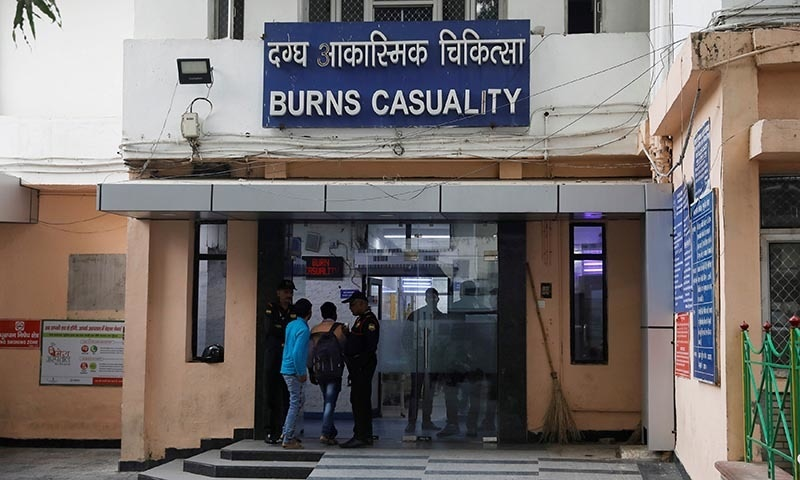 The burns casualty ward of a hospital where a 23-year-old rape victim, who was set ablaze by a gang of men, including the alleged rapist, was being treated, is pictured in New Delhi, India on December 6. — Reuters