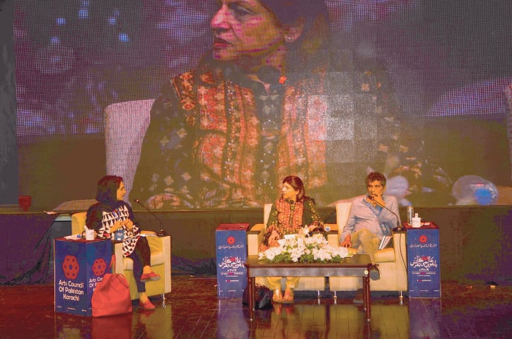 A session on Punjabi literature at the Urdu conference on Saturday.—White Star