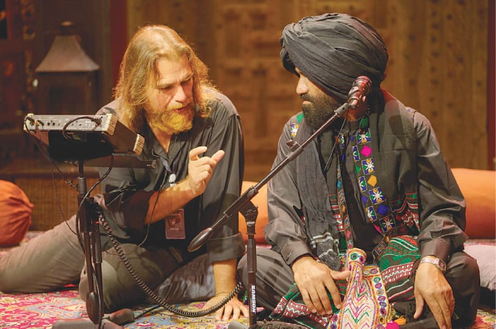 Rohail with SM Baloch from Banur's Band