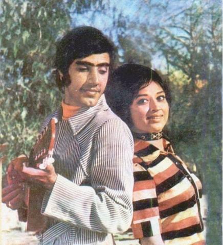 Javed Sheikh and Shabnam in the 1974 film Dhamaka | Guddu Film Archive
