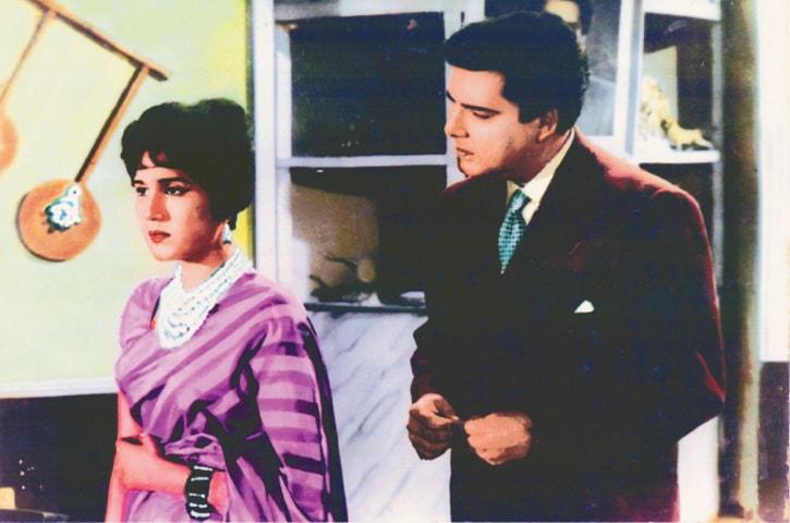 Shamim Ara and Darpan in the 1965 film Naila | Guddu Film Archive