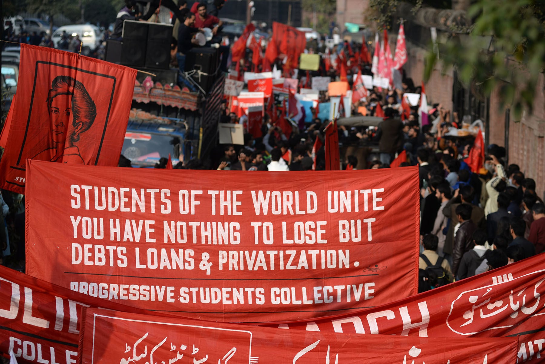 SAC was adamant that the march also address the wider problems of privatisation, misogyny, racism and the sheer neglect of marginalised groups | Murtaza Ali/White Star