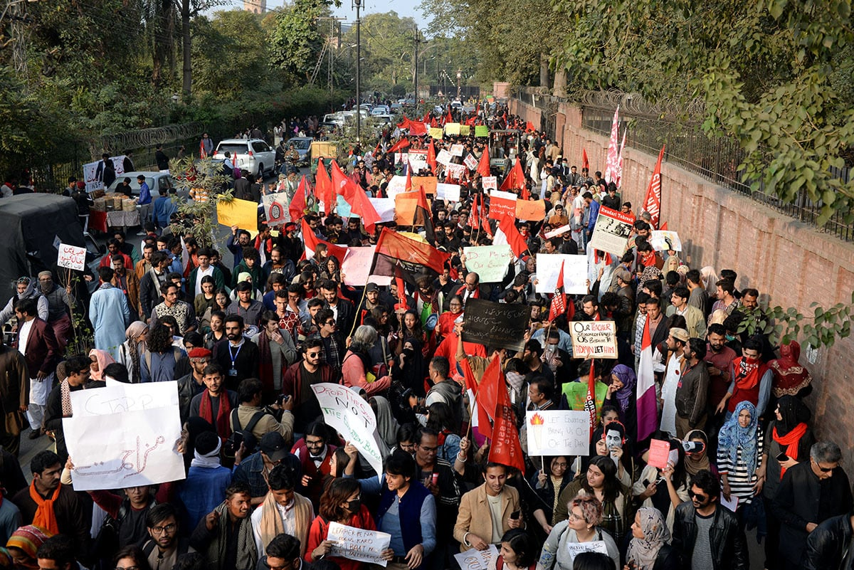 Thousands marched in Lahore | Murtaza Ali/White Star