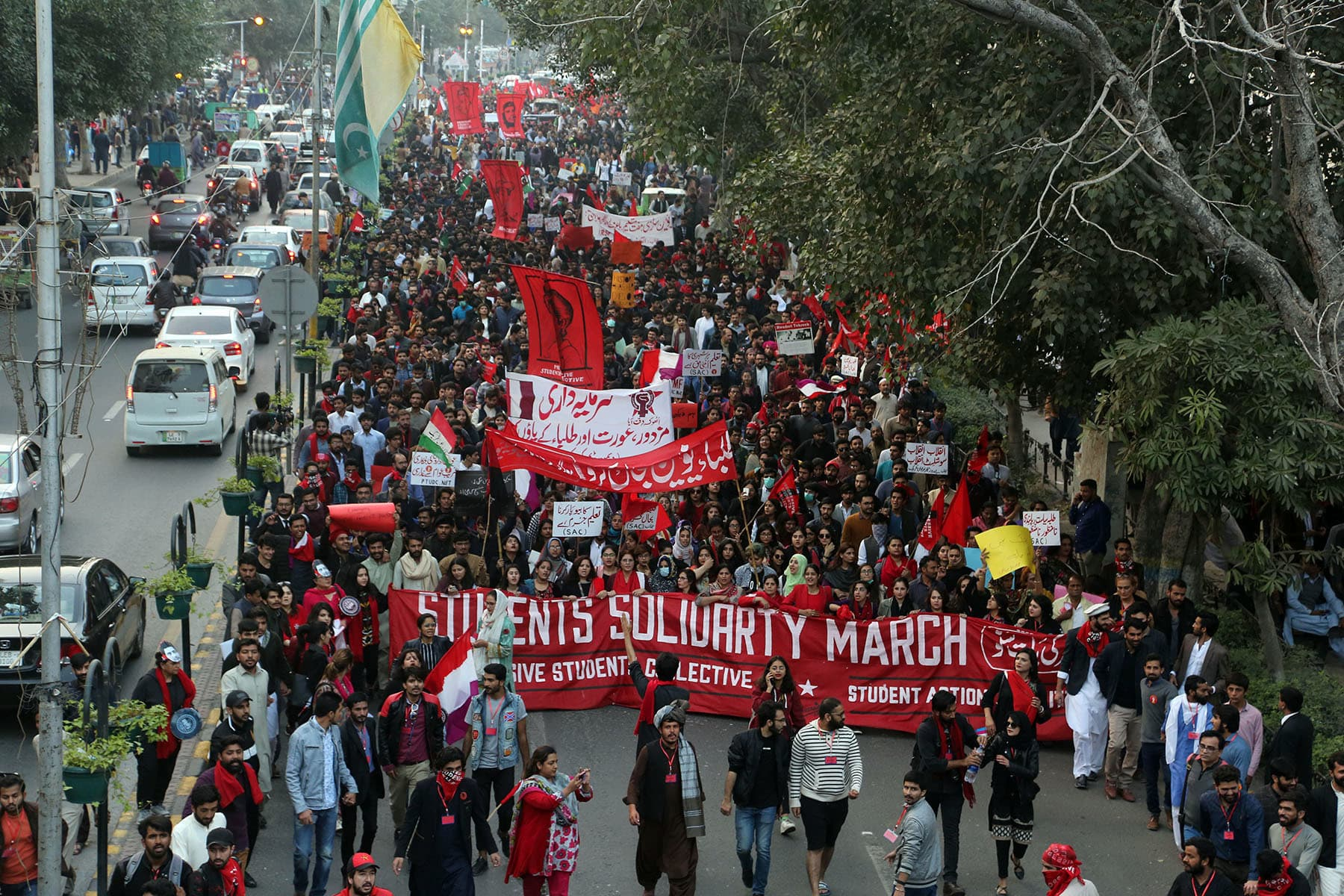 The Student Solidarity March in Lahore | Murtaza Ali/White Star